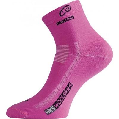 Lasting merino ponožky WKS 499 růžová