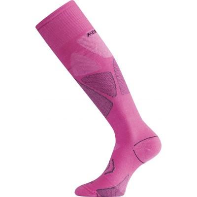 Lasting merino lyžařské podkolenky SWL růžové 498
