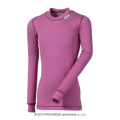 Progress MS NDRD dětské funkční tričko dlouhý rukáv růžová
