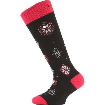 Lasting dětské merino lyžařské ponožky SJA cerna 903