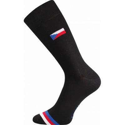 Ponožky Lonka Wearel 016 oblekovky s vlajkami černá