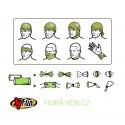 WHO 620 zelená merino ponožka