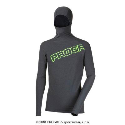 Progress FOCUS pánský sportovní pulovr s kapucí tm.šedý...