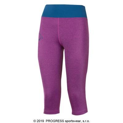 Progress IMPALA 3Q dámské 3/4 běžecké legíny fialový melír