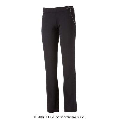 Progress LEVIGA II dámské kalhoty na cvičení černá/růžový...