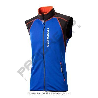 Progress TARTAR pánská sportovní vesta modrá/černá