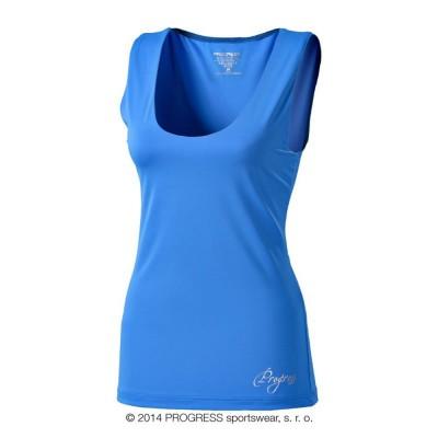 Progress OLI dámské sportovní fitness tílko modrá