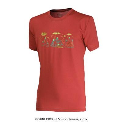 "Progress WABI ""SRANDZYKOPEC"" pánské triko terakota"