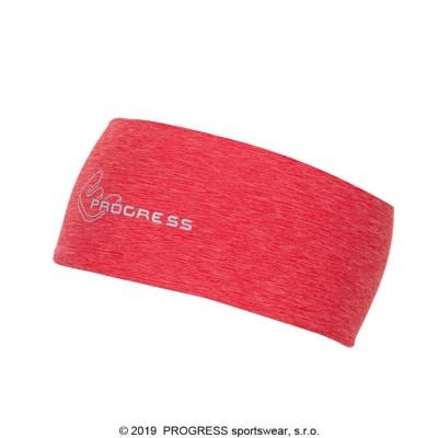 Progress TR CEW sportovní čelenka červený melír