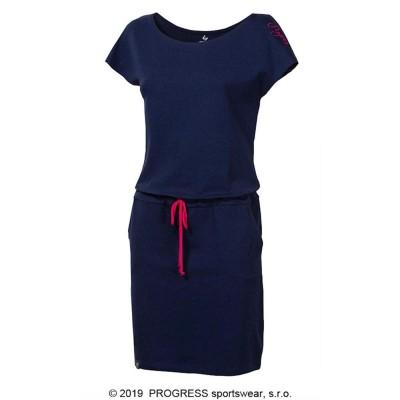 PROGRESS MARTINA dámské sportovní šaty s bambusem tm.modrá