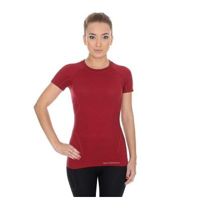 BRUBECK dámské tričko ACTIVE WOOL  vínová