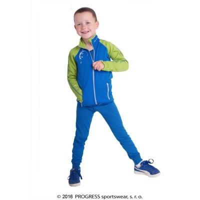 Progress TOFFI KID dětská funkční mikina modrá/zelená