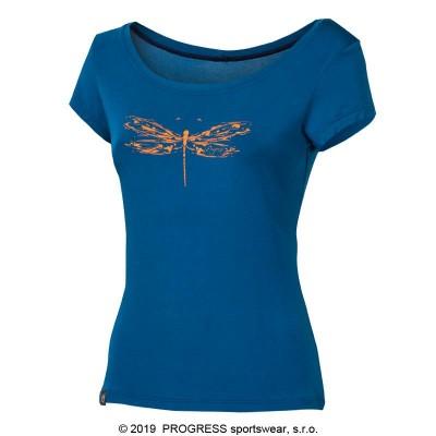 """PROGRESS LIBERTA """"VÁŽKA"""" dámské triko s bambusem modrá"""