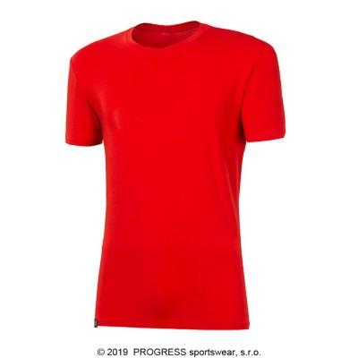 PROGRESS PIONEER pánské triko s bambusem červená