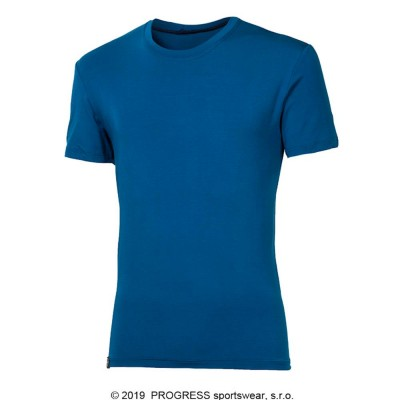 PROGRESS PIONEER pánské triko s bambusem modrá