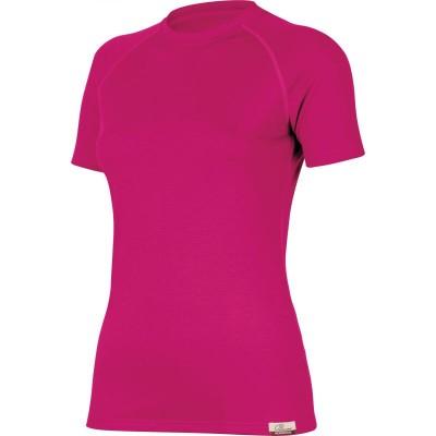 Lasting Dámské 100%merino tričko ALEA růžová 4545