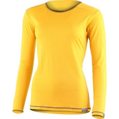 Lasting Dámské 100%merino tričko MATA žlutá 2180