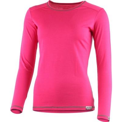 Lasting Dámské 100%merino tričko MATA růžová 4748