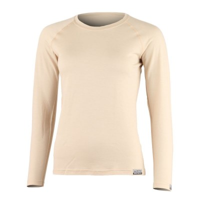Lasting Dámské 100%merino tričko ATILA 7070 béžová