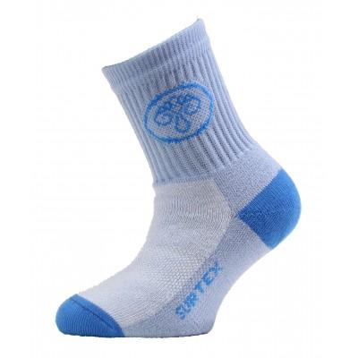 SURTEX DĚTSKÉ Ponožky 80% merino - volný lem světle modrá