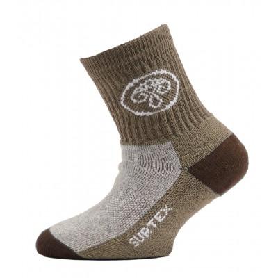 SURTEX DĚTSKÉ Ponožky 80% merino - volný lem bežová