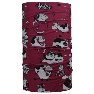 4FUN Funny Cow Viola letní dětský multifunkční šátek