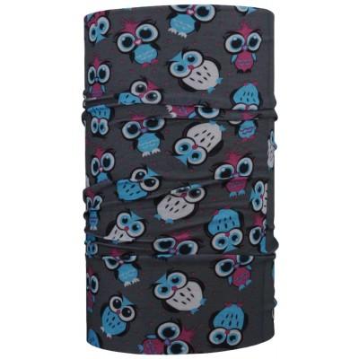 4FUN Owl Grey letní dětský multifunkční šátek