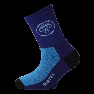 SURTEX DĚTSKÉ Ponožky 80% merino - volný lem stř.modrá