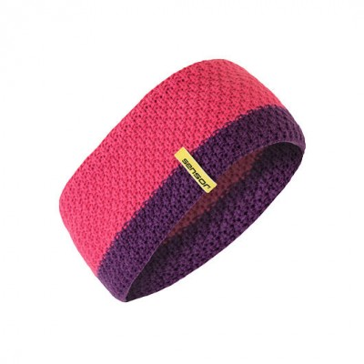 SENSOR ČELENKA pletená růžová