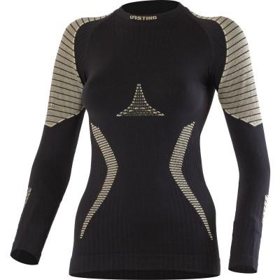Lasting dámské Warm Merino Seamless triko  WERELA 9070 černé