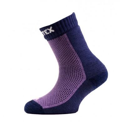 SURTEX DĚTSKÉ Ponožky 80% merino - froté chodidlo fialova...