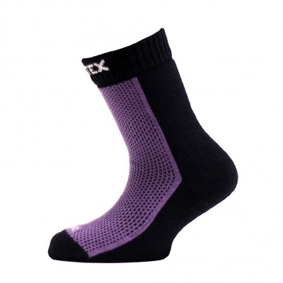 SURTEX DĚTSKÉ Ponožky 80% merino - froté chodidlo fialová...