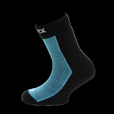SURTEX DĚTSKÉ Ponožky 80% merino - froté chodidlo modrá -...