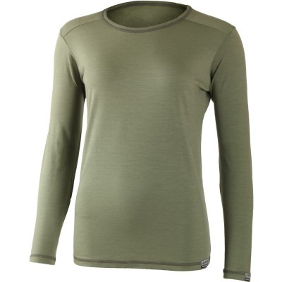 Lasting Dámské 100%merino tričko MATA 6666 zelená