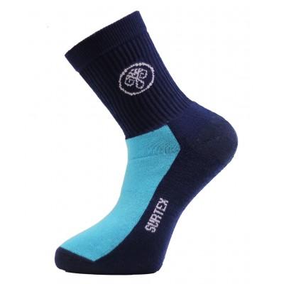 Ponožky SURTEX 80% merino - volný lem Modrá