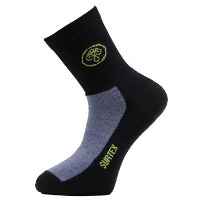 Ponožky SURTEX 80% merino - volný lem tmavě modrá