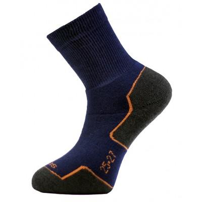 Ponožky SURTEX 95% merino - volný lem tmavě modrá