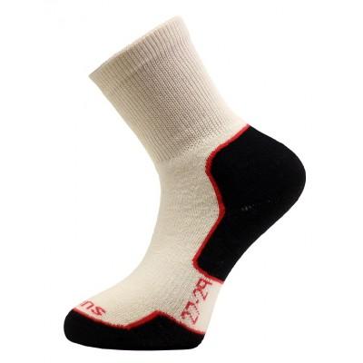 Ponožky SURTEX 95% merino - volný lem bíla