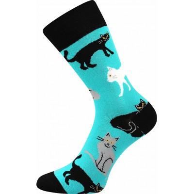 Ponožky Lonka Woodoo MIX D1 kočky - mátová