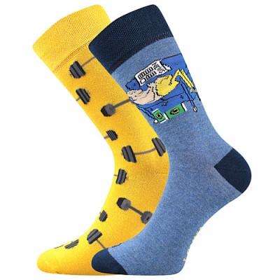 Ponožky Lonka Doble MIX J činky+gaučový povaleč