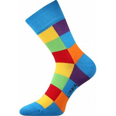 Ponožky Lonka Decube  KOSTKA modrá