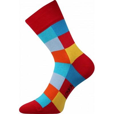 Ponožky Lonka Decube  KOSTKA  červená