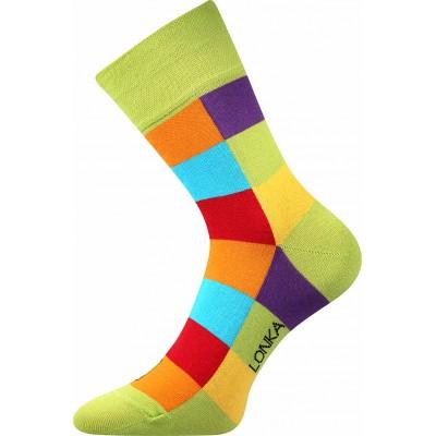 Ponožky Lonka Decube  KOSTKA zelená
