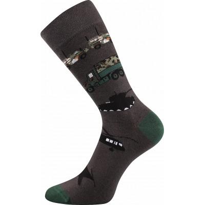 Ponožky Lonka Depate MIX L oblekovky army