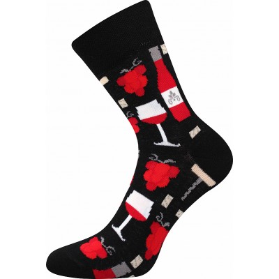 Ponožky  VinoXX 2 oblekovky červené víno