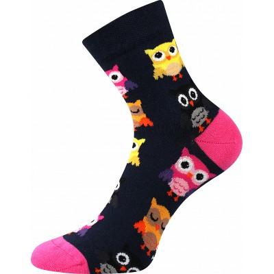 Ponožky Lonka Dedot MIX D sovičky tmavě modrá
