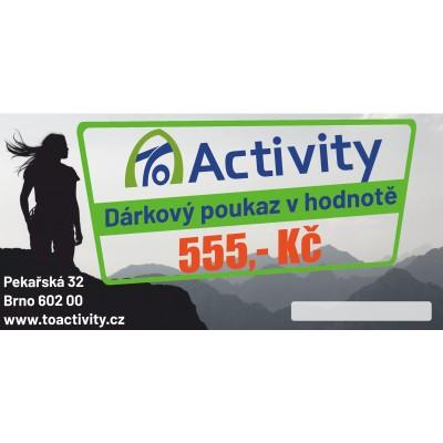 Dárkový poukaz ToActivity 555 Kč