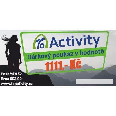 Dárkový poukaz ToActivity 1111 Kč