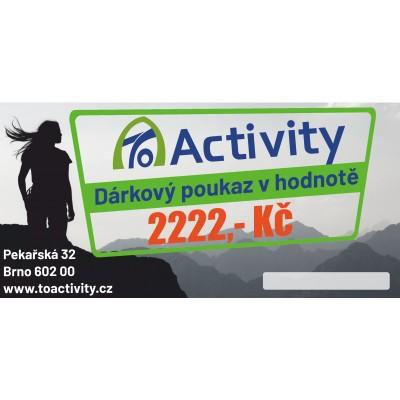 Dárkový poukaz ToActivity 2222 Kč