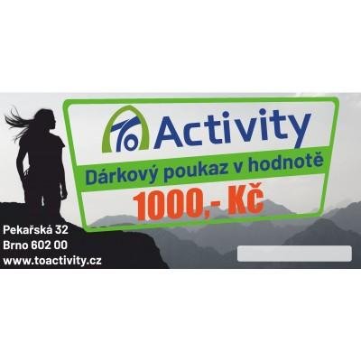 Dárkový poukaz ToActivity 1000 Kč